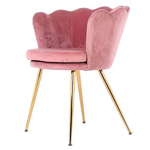 Cómoda Silla de Terciopelo, sillón de Asientos de café, Sala de Estar para Dormitorio, Oficina, hogar