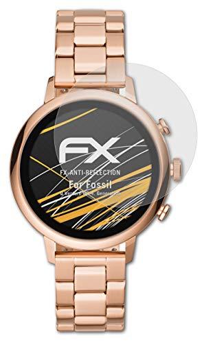 atFoliX Panzerfolie kompatibel mit Fossil Q Venture HR 4. Generation Schutzfolie, entspiegelnde & stoßdämpfende FX Folie (3X)