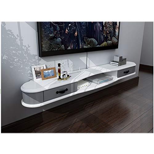 XXHDEE muur TV kast muur achtergrond opslag plank open plank DVD satelliet TV Box met laden. Cable Box Zwevende plank Wandplank