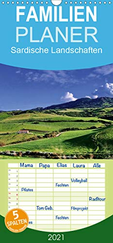 Sardische Landschaften - Familienplaner hoch (Wandkalender 2021, 21 cm x 45 cm, hoch)