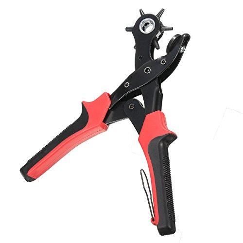 MASUNN 6 Tamaño Resistente Agujero De Cuero Perforación Mano Alicates Agujeros De Cinturón Perforadores Herramienta De Fabricante
