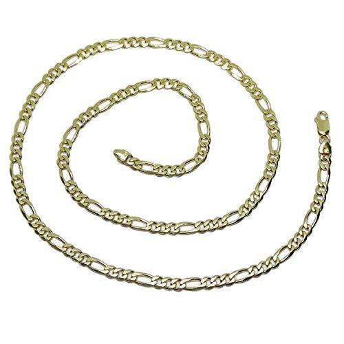 Collana da uomo in oro massiccio 18 k, modello 3 x 1, da 60 cm di lunghezza e 5 mm di larghezza, peso 27 g di oro massiccio, chiusura a moschettone grande, per la massima sicurezza
