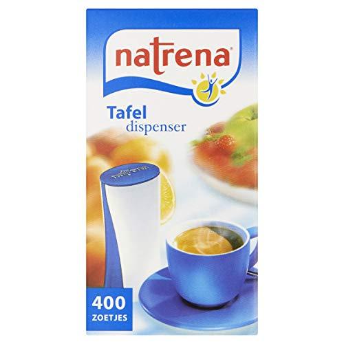 Natrena Zoetstof Dispenser, Suiker Vervanger voor Koffie en Thee, Zakdispenser, 12 x 400 Zoetjes