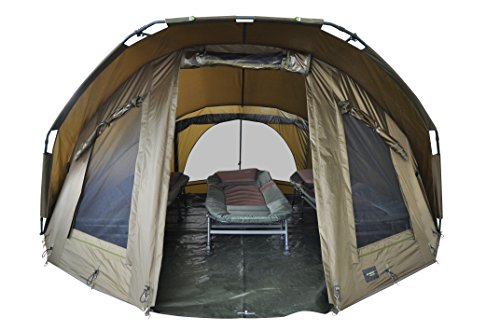 MK-Angelsport Fort Knox 3,5 Mann Dome Innenhöhe: 1.8m Zelt Karpfenzelt Angelzelt incl. Gummihammer