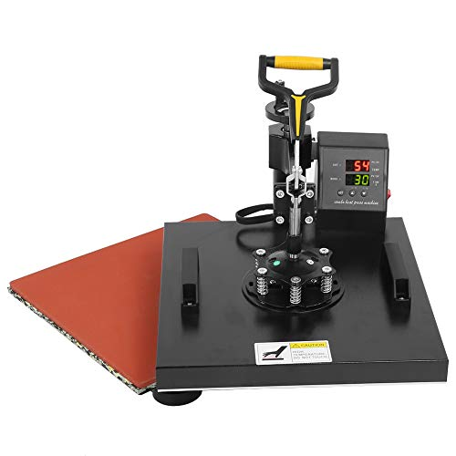 Máquina de prensado de calor, 6 en 1, impresora de transferencia de calor de 15 x 15 pulgadas, máquina de prensado de camisetas con combinación de sublimación giratoria de 360 grados para sombrero /