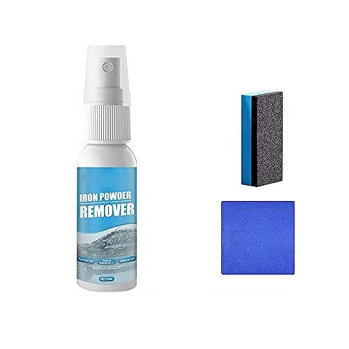 Spray neutro para eliminar el óxido,Disolvente de óxido para el mantenimiento del coche,Spray para eliminar el óxido al instante,Eliminador de polvo de hierro para el coche (30ml)