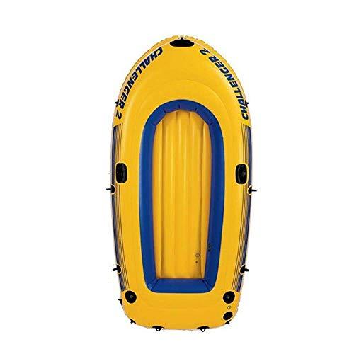 YANGSANJIN slangboots, bärbar med paddel, lämplig för fiske, utomhus, sjöport, 1–2 personer, gul (uppblåsbar)