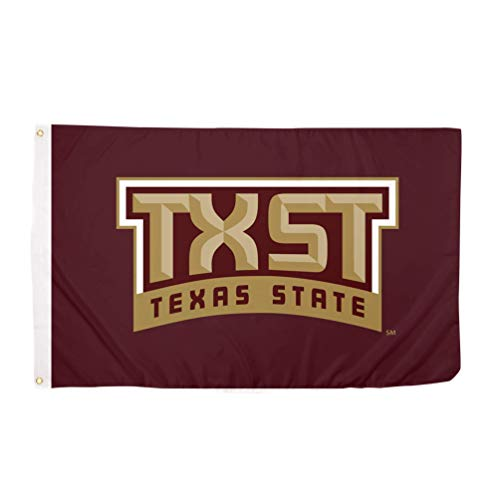 Desert Cactus Texas State University TxSt Bobcats 100% Polyester Indoor Outdoor 3 feet x 5 feet Flag