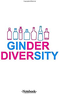 GINder Diversity: Lined notepad A5 (5.5'' x 8.5''; 139.5 x 215.9 mm) with 110 pages