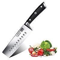 shan zu coltello da cucina nakiri coltello per verdure giapponese 16.5cm professionali coltelli da chef acciaio inossidabile- classic series