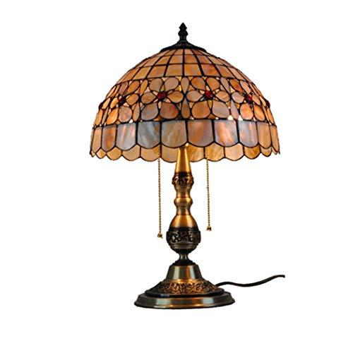 AIBOTY Tiffany-Stil Tischlampe Glasmalerei Blumen Tischlampen 12-Zoll-Schreibtischlampe E27 2 Licht Für Couchtisch Wohnzimmer Antique Schreibtisch Neben Schlafzimmer