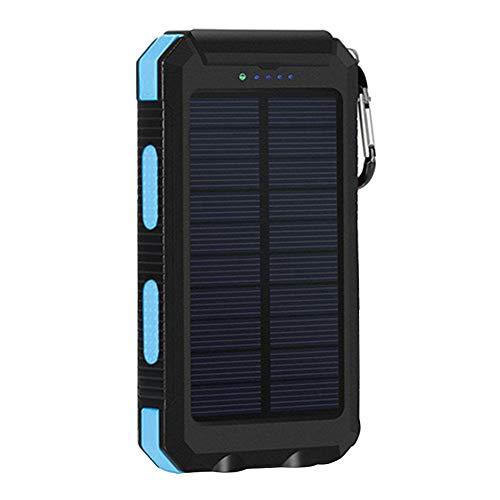 Cargador Solar a Prueba de Agua móvil Banco de la energía 20000mAh teléfono portátil Cargador del Respaldo de batería Externa del Cargador del Paquete Azul