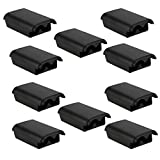 MUCH 10 Pack Black Battery Cover Shell Cases Kit Compatible with Microsof Xbox 360 Wireless Controller