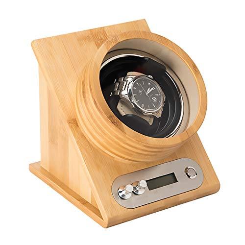 LRL Watch Winders - Inclined Single Watch Shaker Wooden Watch Storage Box Automatic Mechanical Watch Winding Device TPD Control Multi-gear Winder Quiet Motor