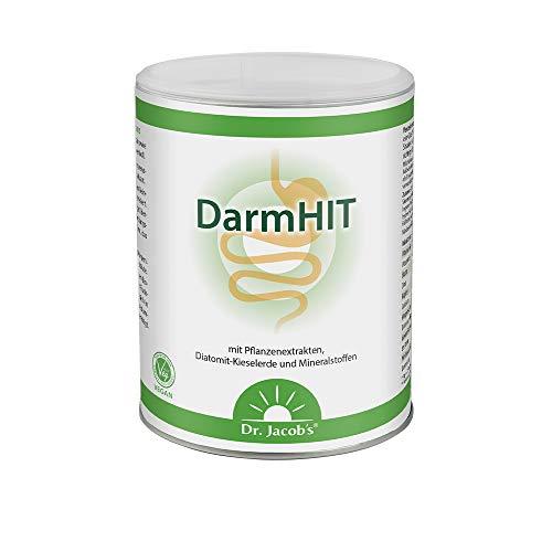 DarmHIT von Dr. Jacob's I 210 g Pulver Dose vegan I Nahrungsergänzung für eine normale Verdauung I Optimal bei Histamin-Intoleranz (HIT) I 42 Portionen