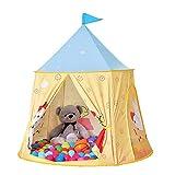 PUDDINGT Spielzelt für Kleinkinder, Spielhaus für innen und außen, tragbares Pop-up Indianerzelt...