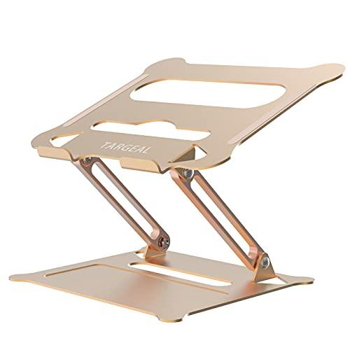 targeal Soporte para Ordenador portátil ergonómico de Aluminio con ventilación de Calor para el Escritorio, el Ordenador portátil Riser Compatible con MacBook Air/Pro,DELL, HP, Lenovo (Dorado)