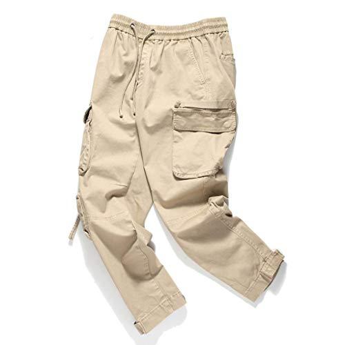 Heren Classics broek Camo Cargo joggingbroek Fashion New Style vrije tijd Pure Color Large Size totaal comfortabele broek 34 EU koffie