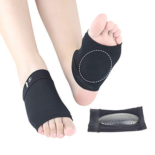 SUPVOX 1 Paar Flache Füße Einlegesohlen Plantarfasziitis Einlagen Fußgewölbe Bandage Arch Support Pads für Männer und Frauen (Schwarz)