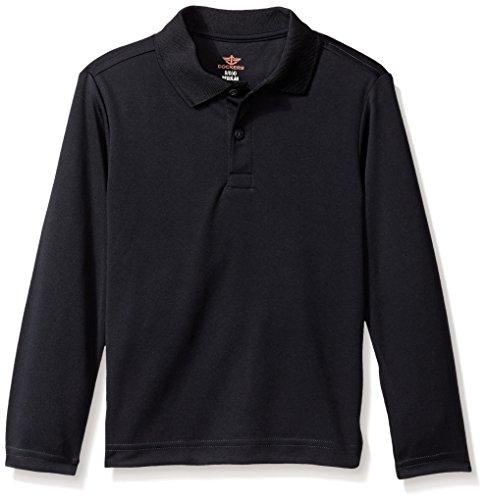 Dockers Little Boys' Uniform Long Sleeve Performance Polo, Light Blue, Medium/5/6