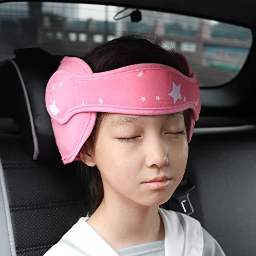 FREESOO Kopfstütze Kindersitz Kinder Auto Kinderkopfstütze für Autositz Nackenstützen für Kinderautositze Einstellbare Kopfstützband Kopfschutz Schlafen Kopfhalterung Kopfgurt Kindersitz