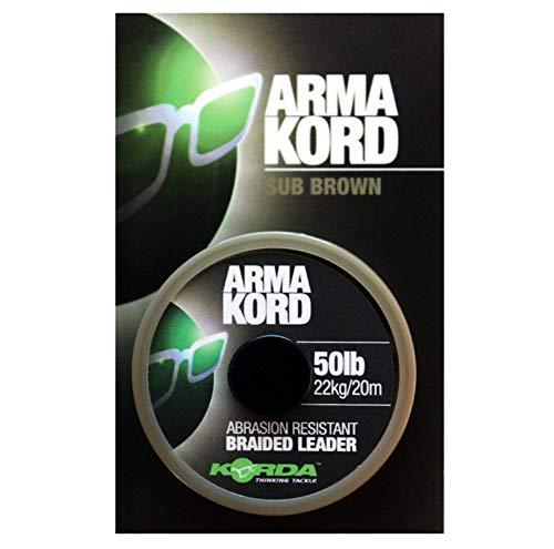Korda arma-Kord líderes trenzado - 20 m (Sub marrón)