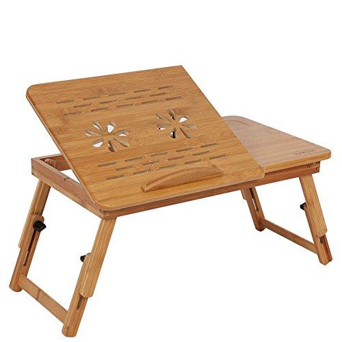 Bambú plegable portátil escritorio Cama Sofá bandeja soporte de ordenador portátil mesa