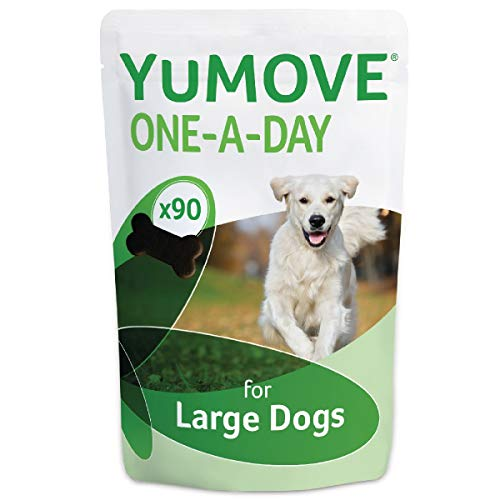 Lintbells | YuMOVE ONE-A-DAY Large Chewies for Dogs | Essential Hip and Joint Supplement for Stiff Dogs Aged 7 to 8 | 90 Chews - 3 Months supply