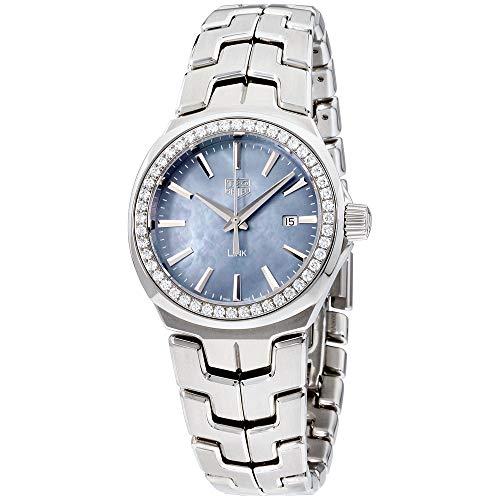 Tag Heuer Link Madre de Pearl Dial de acero inoxidable señoras reloj WBC1315.BA0600