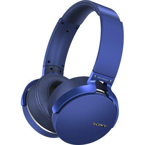 Smilism Extra Bass Bluetooth Wireless Headphones w/Microphone - Blue