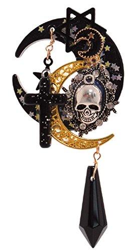 GK-O Gothic Girls Cross Pentacle Stars Moon Skull Hair Clip Lolita Girls Headwear
