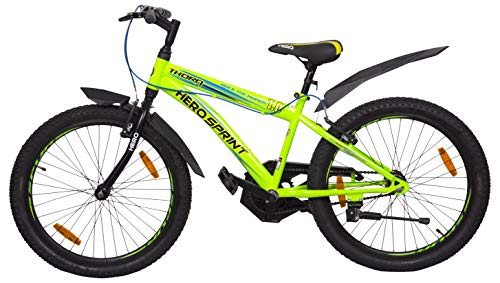 Hero Sprint Thorn 26T Single Speed Mountain Bicycle with Rigid Fork (14 Years Above) (Green)
