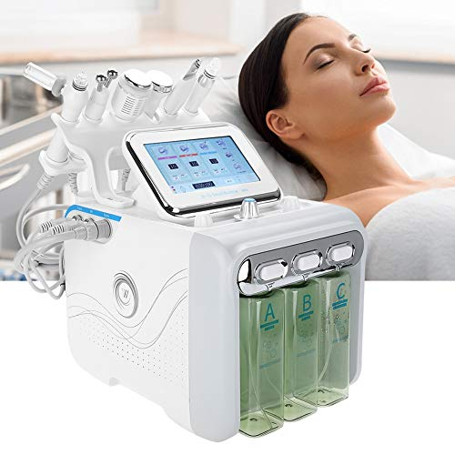 New 6 In 1 Hydrogen Oxygen Beauty Machine - Ultra-Micro Hydrogen Oxygen Small Bubble,Professional Skin Rejuvenation Machine For Deep Cleaning,Moisturizing,Wrinkle Remover,Beauty Salon Essential(US)