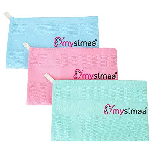 mysimaa® Classic Putztücher Premium Profi Microfaser Allzweck-Reinigungstücher ohne Putzmittel für Streifenfreien Glanz im Haushalt, Auto, Büro sowie für Fenster Spiegel Glas UVM. (60 x 40)