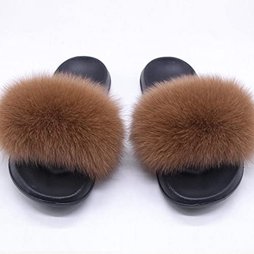 Zapatillas de casa de Mujer Invierno,Zapatillas de Piel de Piel Anti-Cuero, Zapatos de Lavado de Pieles, Lentes con Damas PVC de la Palabra Drag, Zapatos de natación de playa-44/45_GG