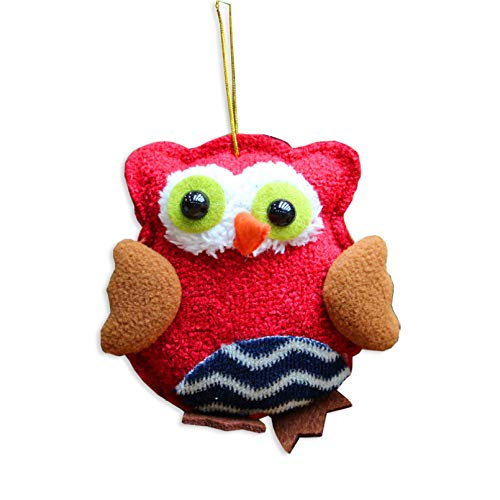 ABOOFAN Hanging Mini Owl Christmas Tree Topper Ornament for Home Party Winter Holiday Xmas Day Decor