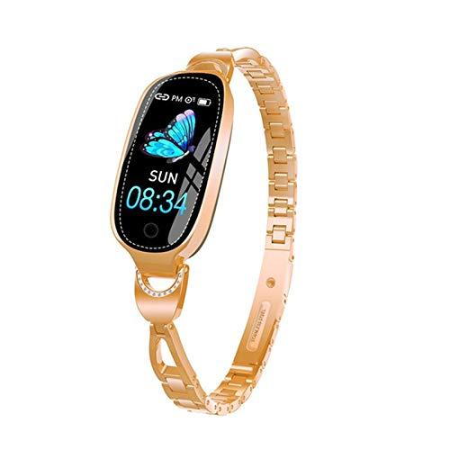 XYZK Reloj Inteligente Impermeable Dama Linda Pulsera Monitor De Ritmo Cardíaco Sleep Smartwatch para iOS Android,A