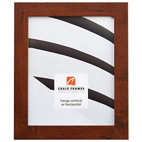 Craig Frames FM26DKW 18 by 24-Inch Picture Frame, Smooth Wrap Finish, 1.26-Inch Wide, Dark Brown