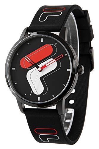 FILA Reloj de cuarzo de acero inoxidable con segundero.