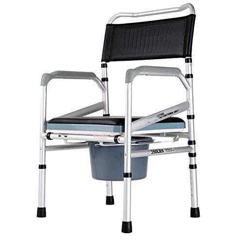 NANI Plegable Cómoda de la cabecera del asiento con la cómoda del cubo y de la Guardia Splash, ligero, robusto, simple, baño Soporte for personas mayores de edad, minusválidos, discapacitados, los abu