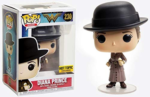 Funko- Wonder Woman-Diana Prince Figure 230 Figurina, Multicolore, 9 cm, 24027