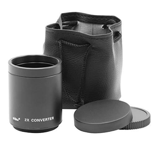 vhbw Teleconvertidor 2X para T2, Objetivos Mount-T para cámaras, cámaras réflex de Espejo por ej. de Canon, Nikon, Sony Alpha, UVM.