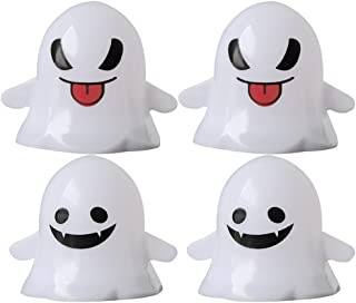 BESPORTBLE 4Pcs Halloween Flickering Flameless Candles 3D Skeleton Ghost LED Tea Light Candles Table Centerpiece Fireplace...