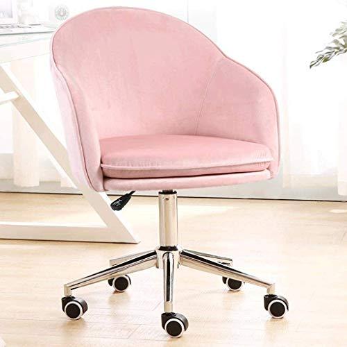 N&O Renovation House Leinen Bürodrehstuhl Computersitz mit mittlerer Rückenlehne Verstellbare Armlehne Schreibtischstuhl (Farbe : Grün)