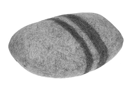 Feltiness Stein Filz Kissen, Großer Filz Kieselstein 100% Wolle Puff