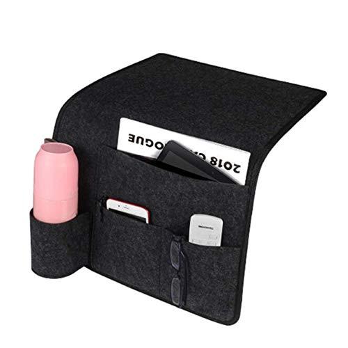 Bigsweety Multi-Funktionen Nachttasche Aufbewahrungstasche, Bedside Essentials Pocket Hanging Storage Organizer, Bett Sofa Side Hanger Holder Bag