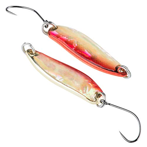 Goture Fishing Spoon Lure Reflective Spoon Lure Casting Spinning Metal Jig for Trout Bass Walleye Crappie Pike(2PCS)
