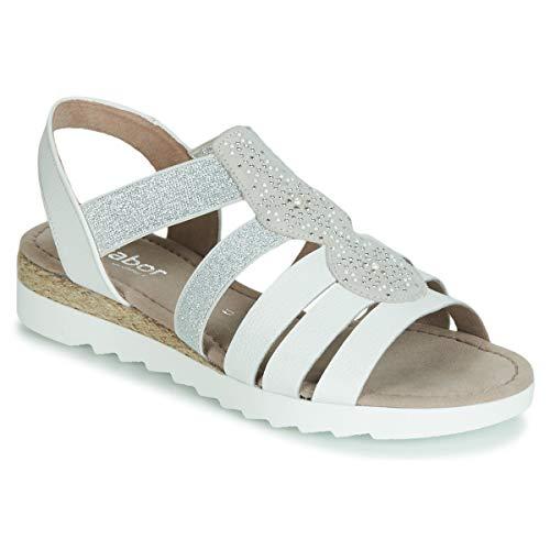 GABOR MOLDINO Sandalen/Open schoenen dames Wit/Zilver Sandalen/Open schoenen