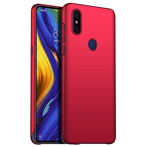TenYll Hülle für Xiaomi Mi Mix 3 5G, [Ultra Slim] PC Schutzhülle Stoßfest,Cover Etui leichte Handy-Tasche Handyhülle Schutzhülle für Xiaomi Mi Mix 3 5G -Rot