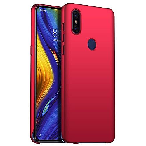 TenYll Funda para Xiaomi Mi Mix 3 5G,Nueva Cubierta Delgado Caso PC Back Cases Cover para Xiaomi Mi Mix 3 5G -Rojo